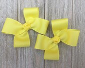 Lemon Hair Bows,Pigtail Hair Bows,Alligator Clips,3 Inches Wide,Burthday Party Favors