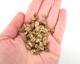 Picture jasper gemstone nugget beads, lovely gem stone tumbled chip beads, A215