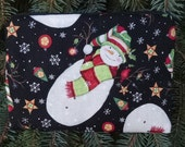 Snowman zippered bag, make up bag, accessory bag, The Scooter
