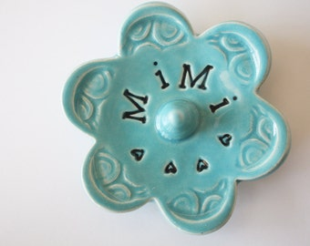 Turquoise ring dish - Mimi Keepsake Ring Dish -  Gift box included