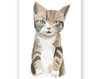 Tabby Cat - 8x10 Art Print