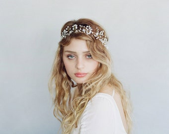 Bridal hair vine - Baby's breath ethereal hair vine - Style 745 - Made to Order