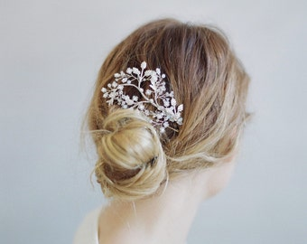 Bridal hair comb - Shimmering leaf and branch hair comb - Style 774 - Made to Order