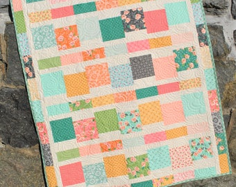 "PDF Baby Quilt PATTERN...uses 5"" Squares, EASY and Quick, Jumping Jacks"
