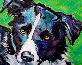 8x10 or 8x8 Oil on Canvas Pet Portrait Commissions by Maine Artist Elizabeth Fraser