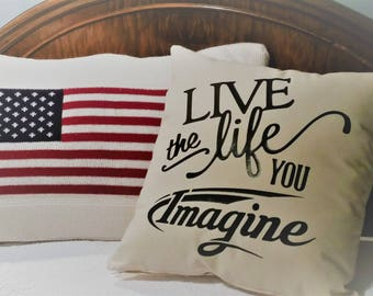Live the life you Imagine Pillow Cover, Case for Grand Design Imagine trailer owners