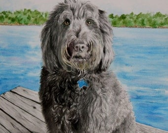 Labradoodle  giclee reproduction