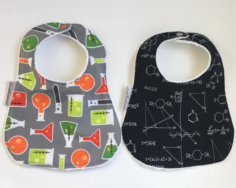 Science Bib | Minky Bib | Math Bib | Chemistry Bib | Science Baby | Baby Gift | Shower Gift | STEM Girl | STEM Baby | Drool Bib | Geeky Bib