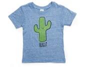 Blue Cactus Hug T-Shirt - Organic Triblend