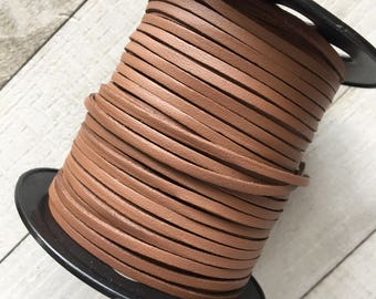 Suede Lace Faux Leather Jewelry Cord (C67) Brown 15 feet 5 Yards PU Leather - DIY Boho Wrap Choker Jewelry Cord Bracelets Necklace