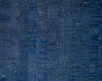 Eversewn CORK FABRIC - Blue with Dark Flecks - Size Options