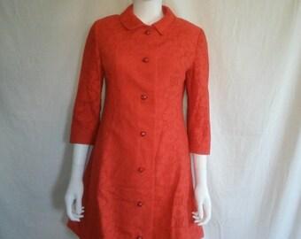 SALE 60's Vintage Mod Floral Dress