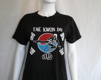 Tae Kwon Do 70s 80s t shirt, Martial Arts t shirt