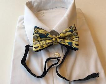 Minion Pretied Bow Tie, Prom, Grad, Wedding,