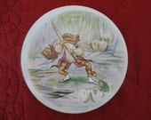 Vintage Jeremy Fisher frog tin box Huntley & Palmers biscuits Beatrix Potter