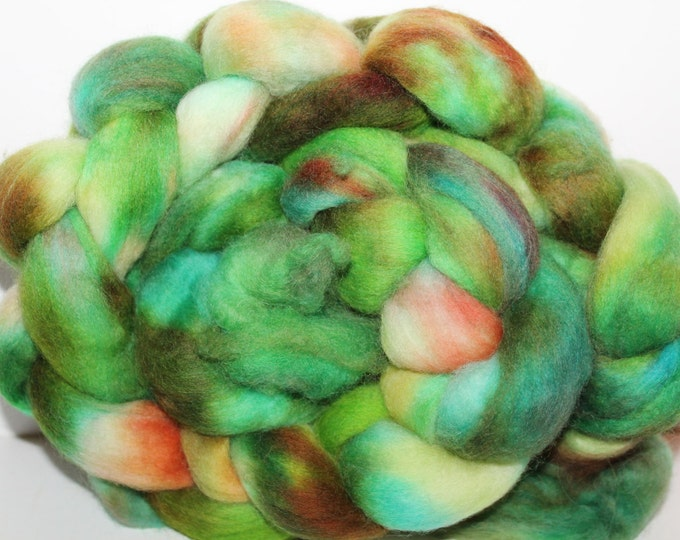 Kette Dyed Polwarth wool top. Roving. Spin. Felt. Super Soft. 4oz FREE SHIP #P25