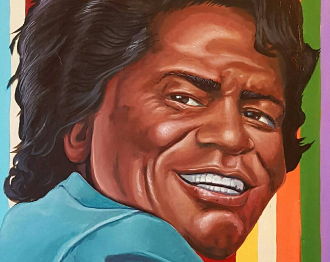 James Brown - Original painting by Mr Hooper of Nashville Tennessee