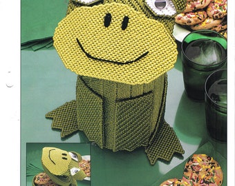 Frog Canister ~  plastic canvas pattern  ~  Annie's