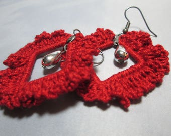 Ruffled Crocheted Earrings