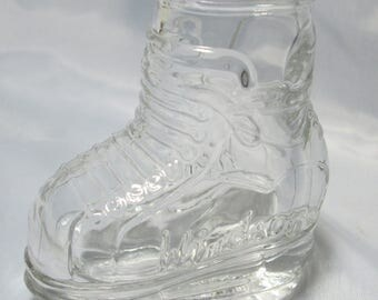 Vintage Glass Candy Container Boot/Sneaker