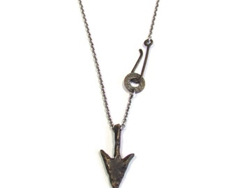 Arrow Pendant, Arrowhead Necklace, Bronze Age Jewelry, Neolithic Jewelry, Unisex Arrow Pendant