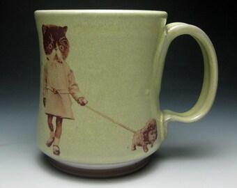 Kitty Girl Walking Mug