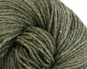 Hand Dyed Aran weight mini Empire Rambouillet Wool 213 yds 4oz Jasper