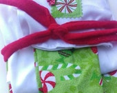 Size 10/12 Sparkly Christmas Candy Doll and Me Matching PJ's for American Girl Doll and Little Girl, Matching Pajamas, Pajama Set