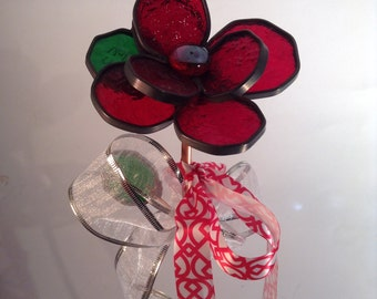 Red Long Stem Rose Bouquet - Valentine's Day, Anniversary, Birthday, Wedding, Table Arrangement, I Love You, Sympathy