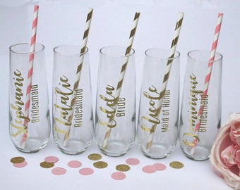 Bridal shower decorations pink and gold photo prop bridal shower gifts for guests bridal shower thank you gifts from the Bride