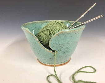Yarn bowl, hand made knitting bowl ready to ship