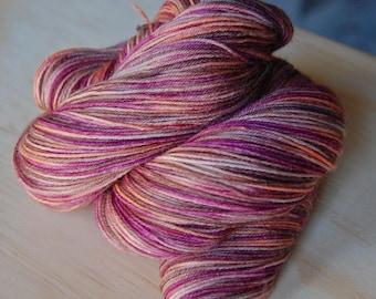 Wonder Sock yarn - Pink Shell- 465 yards 100 grams- 72/25 Superwash Blueface wool and Nylon