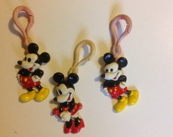 Vintage Mickey Mouse Plastic Charms Disney