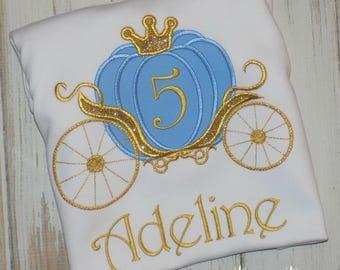 Cinderella Birthday shirt, Princess Carriage Shirt, Princess shirt, Cinderella Shirt, Princess Birthday shirt, sew cute creations