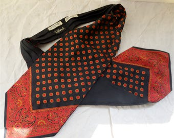 Christian Dior Silk Ascot - Vintage 1960s Cravat Made in Italy