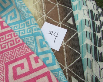 Wrap Scrap Tekhni over 3 yards Remnant Fabric #4 for suck pads, key fobs, headbands Laurel Kyanite, Delta Cinder, Meadros Candy/Coastal -
