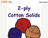 """ON SALE SOLID color cotton """"2-ply"""" lace weight to coordinate with Bre-Aly Gradients"""