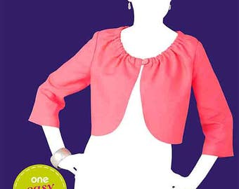 OOP Misses Front Botton Jacket Bolero So Easy Sew Simple Simplicity 1973 Womens Sewing Pattern Plus and Average Sizes 10-22 UNCUT