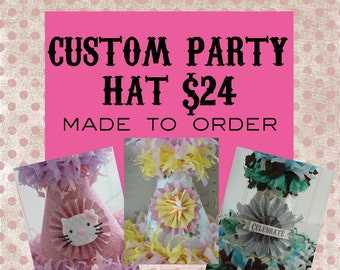 Custom Party Hat Smash Birthday Cake Photo Prop