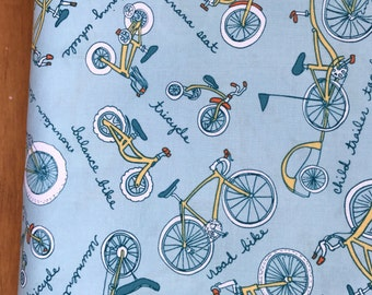 Cycles of Life bike fabric designed by me Kristen Berger for Maywood Studio