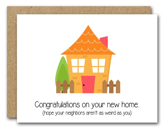 Congrats New House funny new home card instant download new house card new
