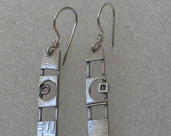 Small Sterling Ladder Earrings