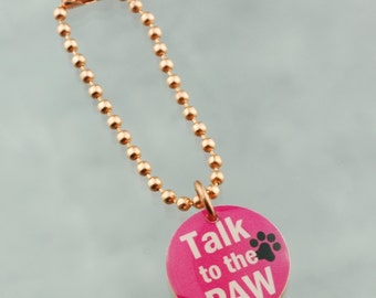 Talk To The Paw Planner Charm, Traveler's Notebook Charm, Purse Charm, Happy Planner Charm