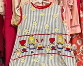 Alice in Wonderland Smock Dress 3T