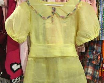 Handmade Sheer Dress Girls 8/10