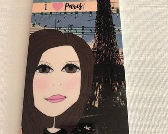 Bag Tag - Luggage Tag, Paris -   I  Love Paris