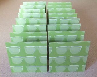 Mini Cards 16 Sunglasses - blank for thank you notes 3 x 3