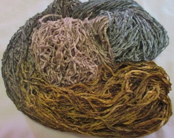 Hand dyed Soft Rayon Chenille Yarn MOUNTAIN VIEW  -  360 yds