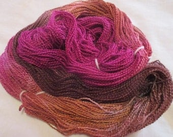 Hand painted Cotton Boucle Yarn - 315 yds.  CAYENNE