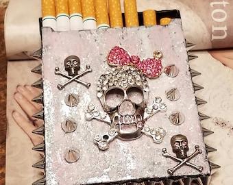Spikes And Skulls Cigarette Case